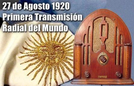 Resultado de imagen para primera transmision de radio en la argentina