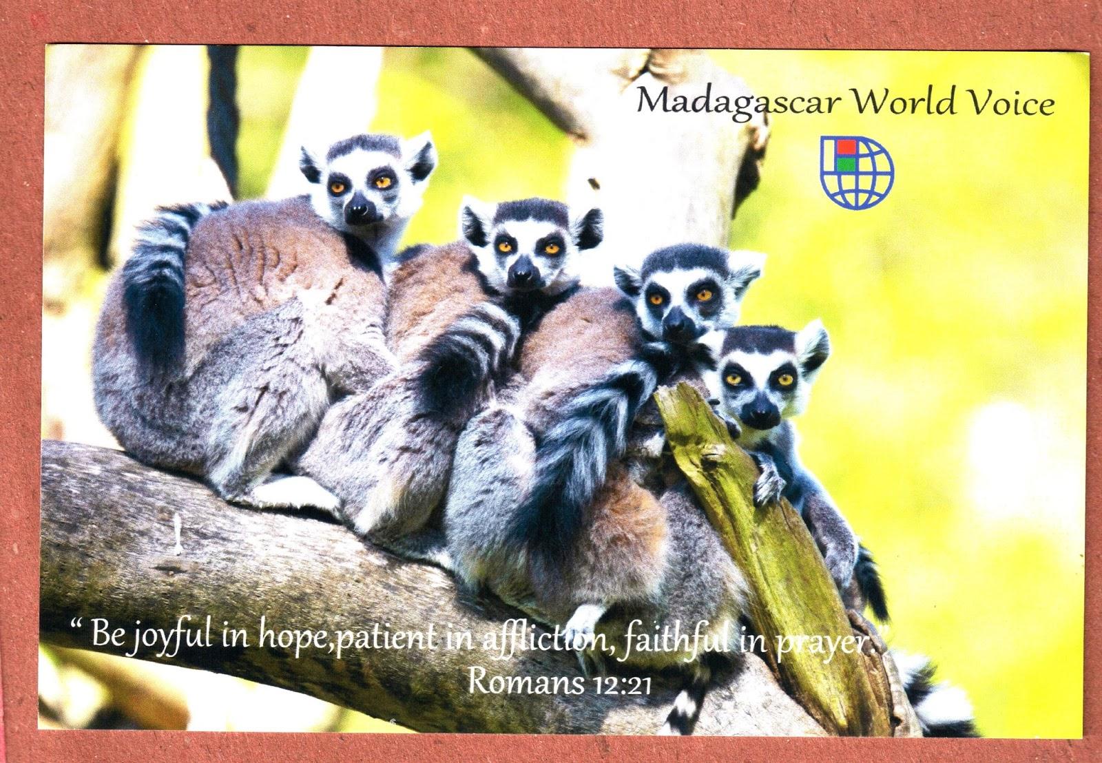 PARAGUANA DX: QSL- MADAGASCAR WORLD VOICE - MADAGASCAR